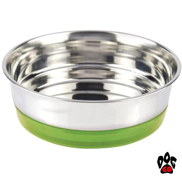 Миска для собак, нержавейка CROCI Neon, непроливайка на резинке-4