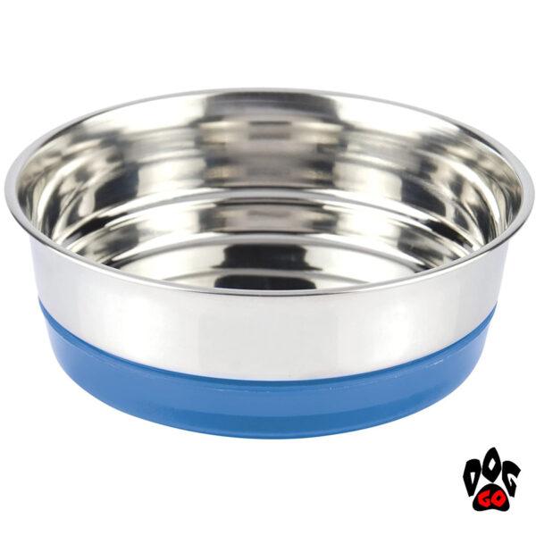 Миска для собак, нержавейка CROCI Neon, непроливайка на резинке-5
