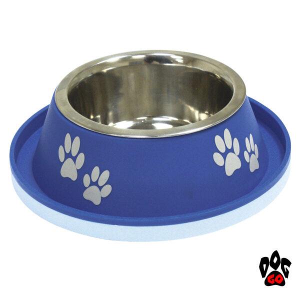 Миска непроливайка для собак CROCI No Spill нержавейка+пластик, резиновое дно, бортик от муравьев-2