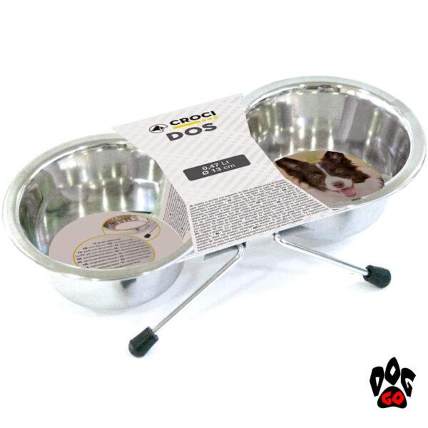 Миски для собак с подставкой CROCI, нержавейка, 2шт-2
