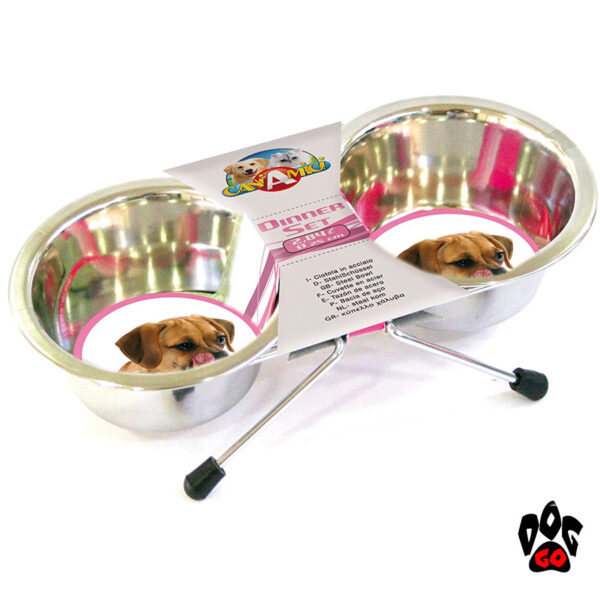Миски для собак с подставкой CROCI, нержавейка, 2шт-3