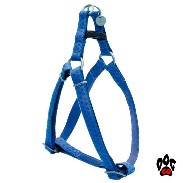 Мягкая шлейка для собак CROCI MYLORD с тиснением, кожзам, синий