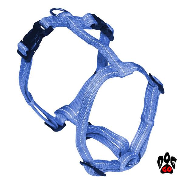 Мягкая шлея для собак CROCI SOFT REFLECTIVE H-образная, светоотражающая, нейлон-1
