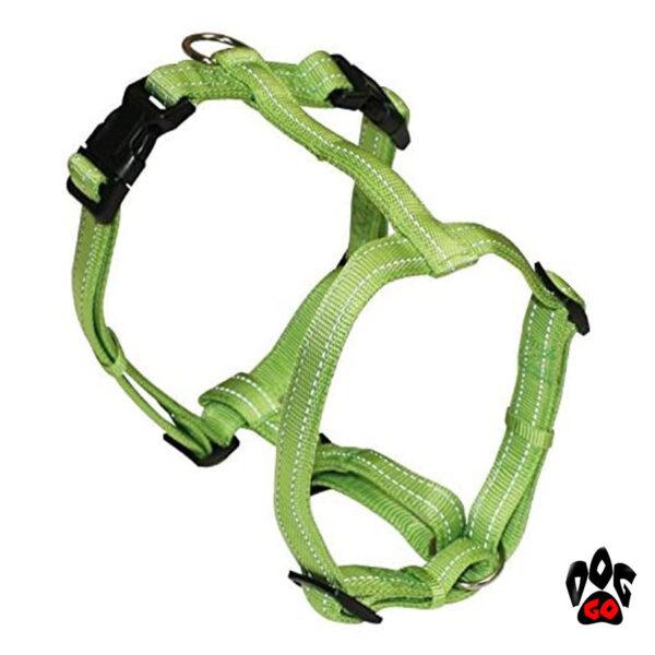 Мягкая шлея для собак CROCI SOFT REFLECTIVE H-образная, светоотражающая, нейлон-2