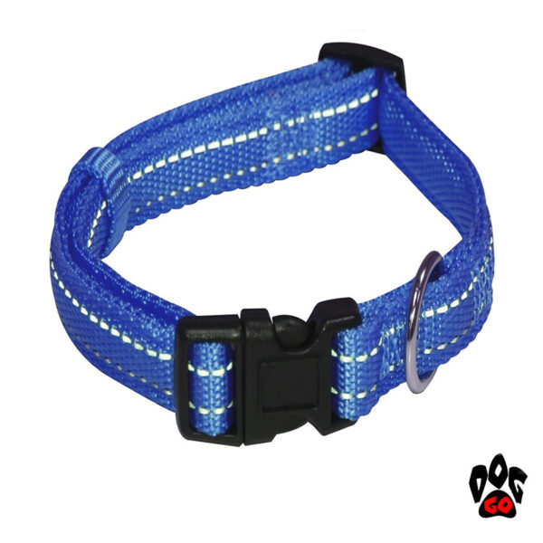 Мягкий ошейник для собак CROCI SOFT REFLECTIVE светоотражающий, нейлон, синий