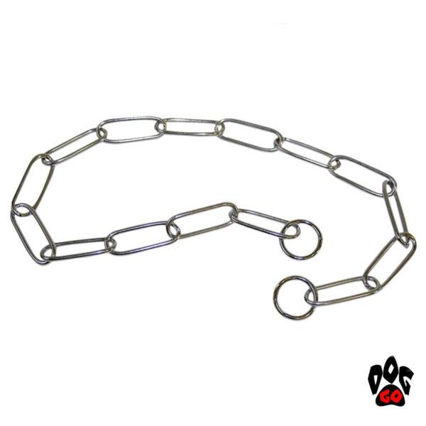 Ошейник-цепочка для собак CROCI Fursaver, хром, бережно для шерсти-1