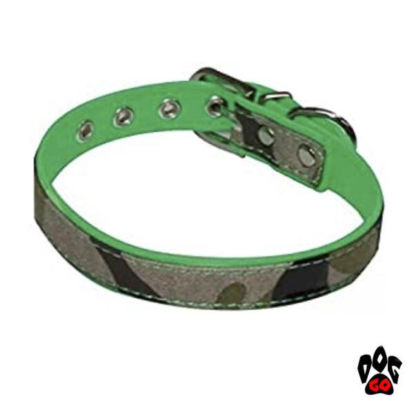 Ошейник камуфляж для маленьких собак CROCI FLUO CAMOUFLAGE, хаки, кожзам/джинс-1