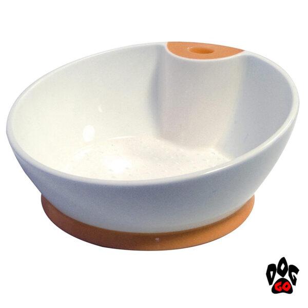 Пластиковые миски для собак CROCI Tongue, непроливайка, скошенная, прорезиненное дно-2