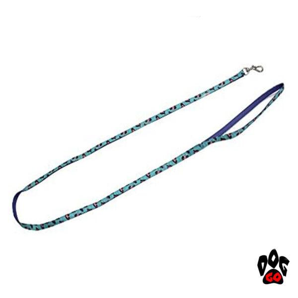 Поводок+ошейник для собак CROCI MINI JUNGLE, с колокольчиком, нейлон, 16-24х0,8см / 0,8х120см-3