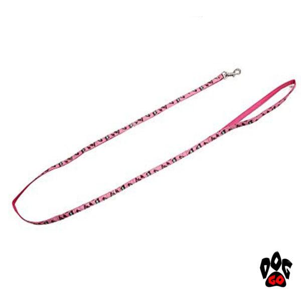Поводок+ошейник для собак CROCI MINI JUNGLE, с колокольчиком, нейлон, 16-24х0,8см / 0,8х120см-4