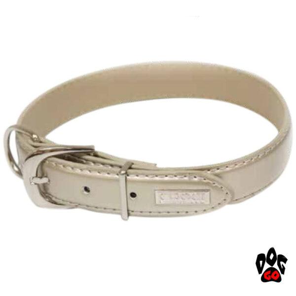 Регулируемый ошейник для собак CROCI COLLARE LUXURY, перламутр, кожзам-1