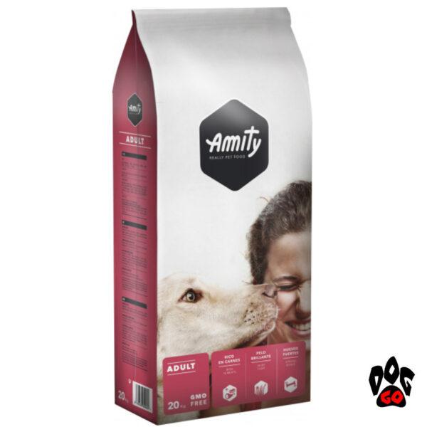 AMITY ECO Adult Корм для взрослых собак всех пород, мясо, 20кг-1