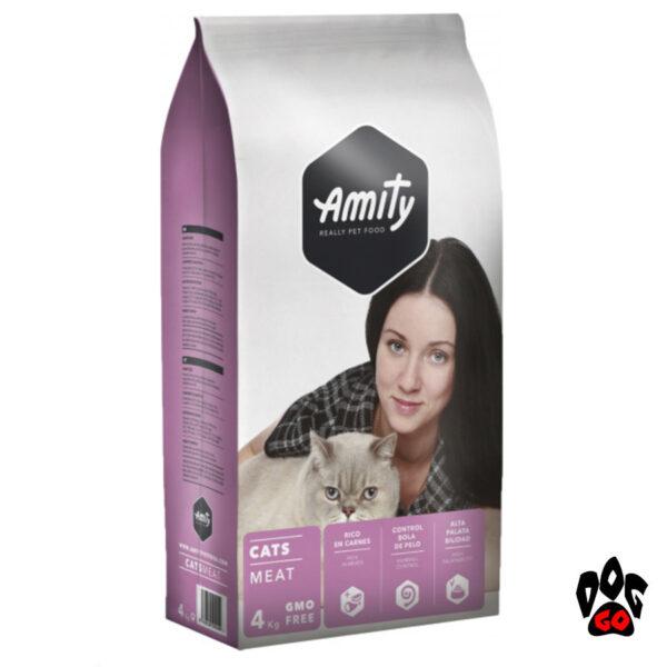 AMITY ECO Cats MEAT Корм для котов всех пород, мясо, 4кг-1