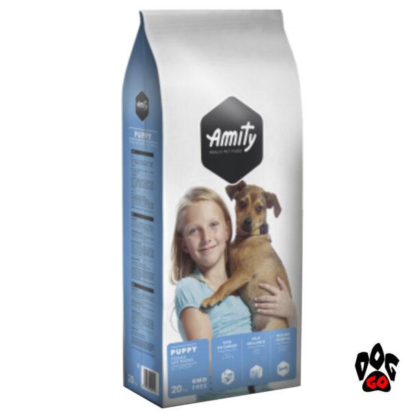AMITY ECO Puppy Корм для щенков всех пород, курица с рисом, 20кг-1