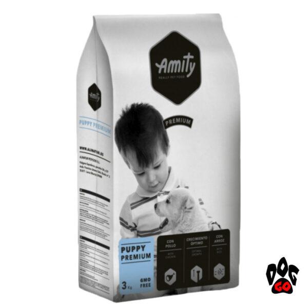 AMITY Корм для щенков всех пород Puppy, с курицей и рисом, 3кг-1