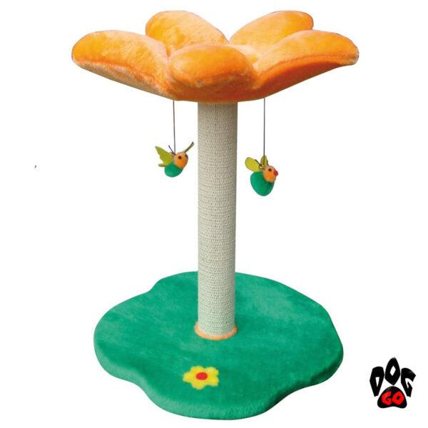 Когтеточка для кошки CROCI Примула, 45х45х56см, плюш+сезаль-2