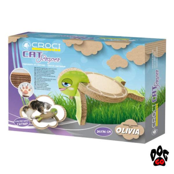 Когтеточка из гофрированного картона CROCI Черепаха, 26x36x20см-2