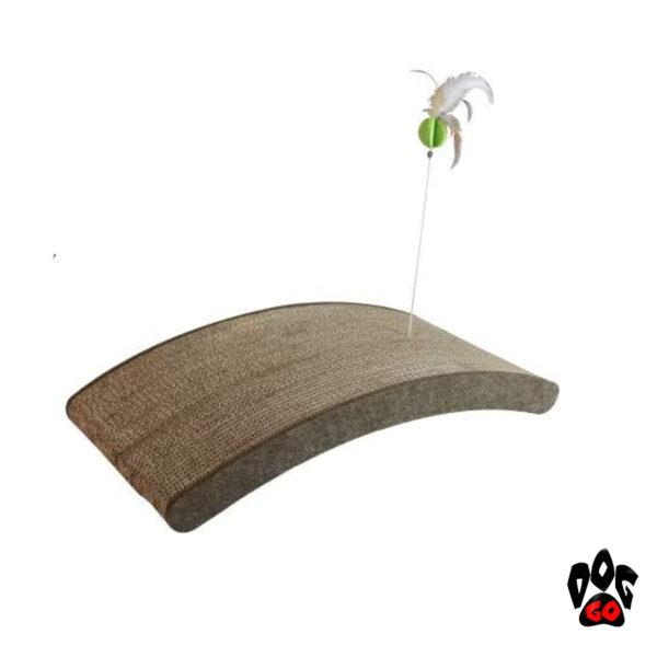 Когтеточка картонная CROCI Papercat Decor, тоннель с игрушкой, гофракартон, 36х35х31см-2