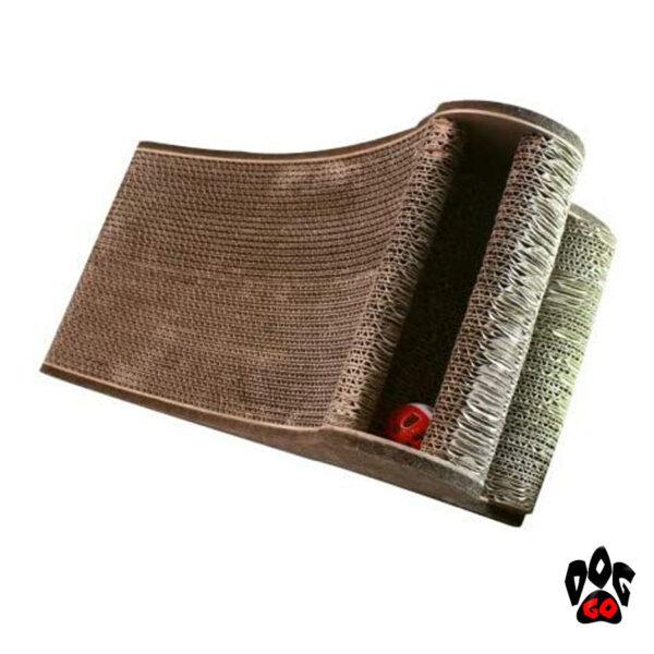 Когтеточка картонная CROCI Papercat Decor, тоннель с игрушкой, гофракартон, 36х35х31см-3