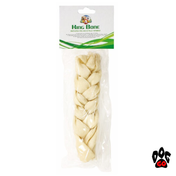 Лакомство для собак Косичка жилистая KingBone CROCI белая 15см, 55г-1