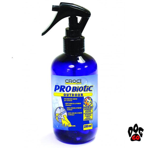 Нейтрализатор запаха мочи кота и собаки CROCI PROBIOTIC, спрей для улицы, 250мл-1