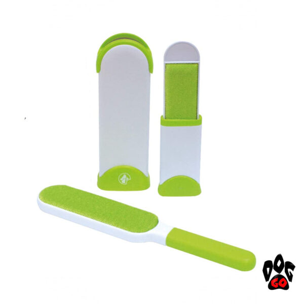 Щетка для чистки от шерсти животных CROCI (набор) 7х4х33см и 6х14х6см-2