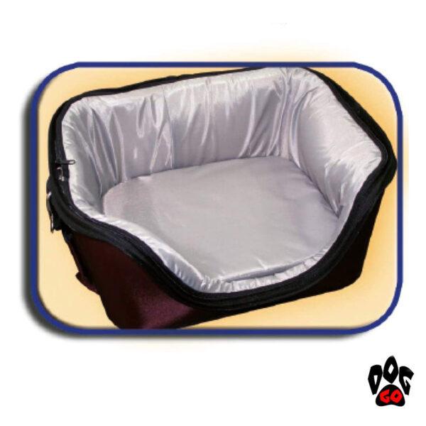 Сумка-лежак для собак и кошек CROCI Fast&Easy, для выставок, 42х33х29см, до 12кг, коричневый+беж-3