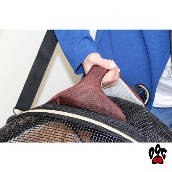 Сумка-лежак для собак и кошек CROCI Fast&Easy, для выставок, 42х33х29см, до 12кг, коричневый+беж-4