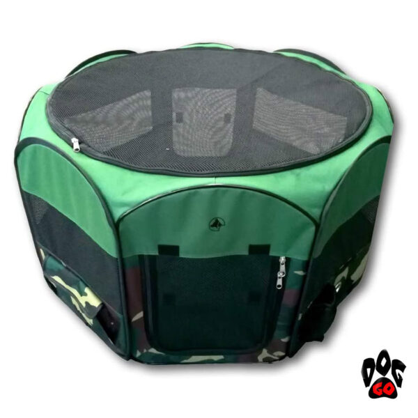 Сумка-манеж для собак и кошек CROCI Fence Fast&Easy, для выставок, 92х92х49см, коричневый+беж-1