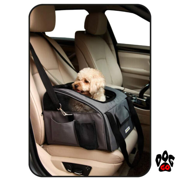 Сумка на переднее сиденье для собак CROCI серая, 41х34х30см-2