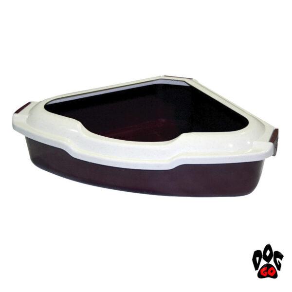 Угловой туалет для кошек CROCI с бортиком, 55х42х16см-1