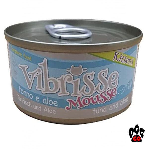VIBRISSE MOUSSE Консервы для котят тунец + алое, 70г-1