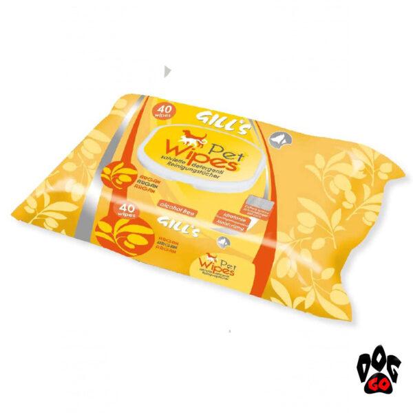 Влажные салфетки для собак и котов CROCI GILL'S гигиенические, 40шт в уп-2