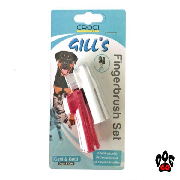Зубная щетка для собак и кошек GILL'S CROCI, 2шт-1