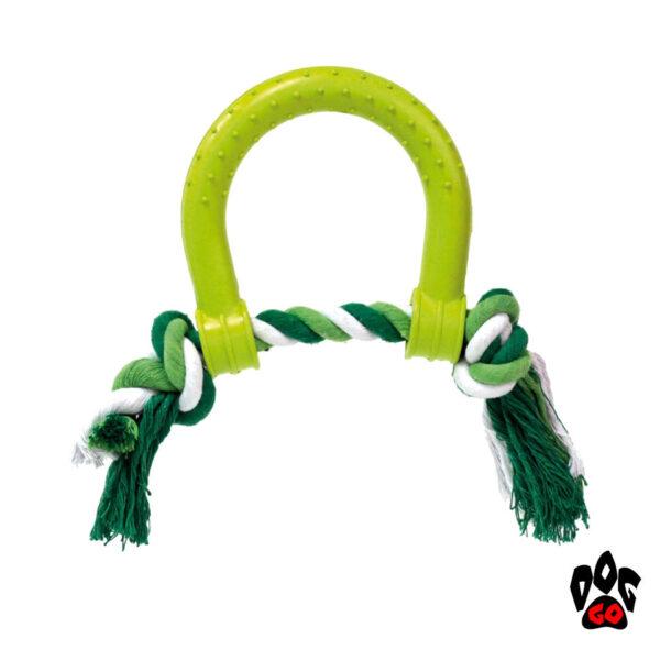 CROCI Игрушка для собак Пушер с канатом, литой, резина 17х14см-1