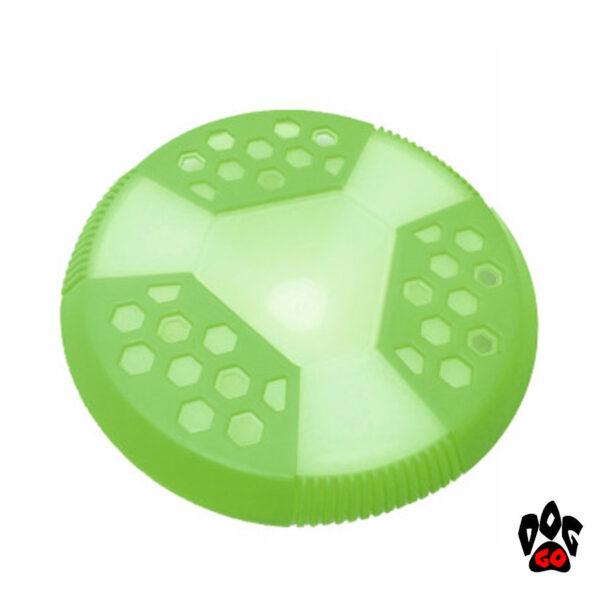 Игрушка для собак Фрисби CROCI GLOW, люминесцентная, высокопрочная резина, 21x21x3см-1