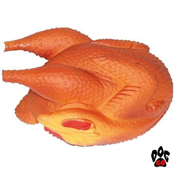 Игрушка для собак Курица гриль CROCI, пищалка, 18см-1