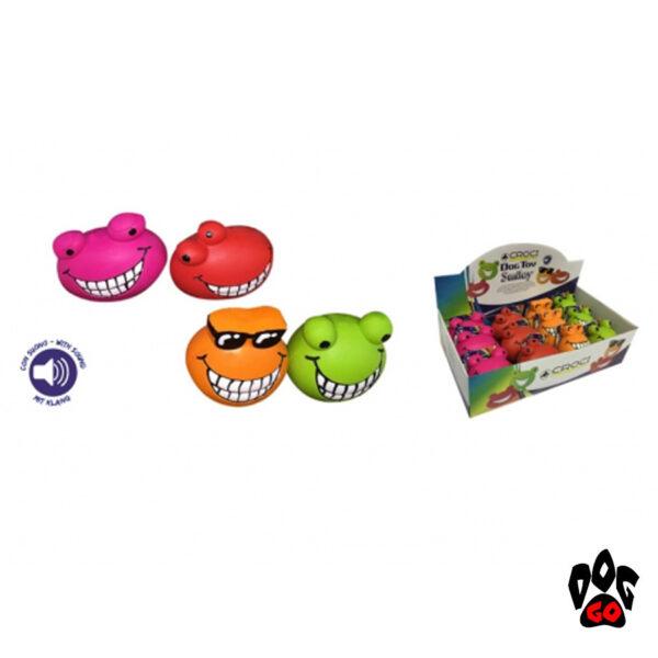 Игрушка для собак мелких пород CROCI Смайл энималс, силикон, 6-8см-1