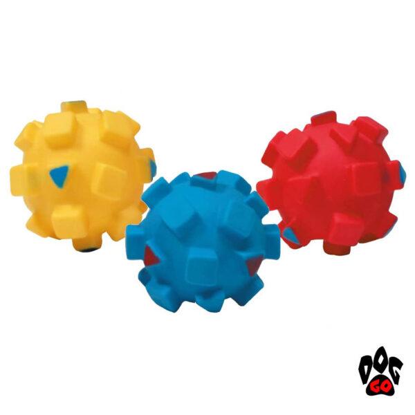 Игрушка для собак Мяч с квадратами CROCI, винил, 9см-1