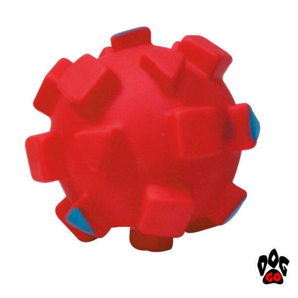 Игрушка для собак Мяч с квадратами CROCI, винил, 9см-3