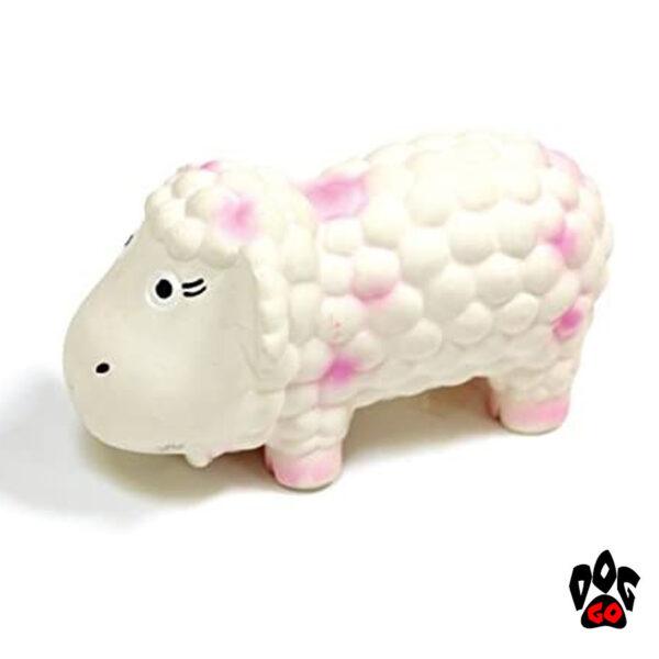Игрушка для собак Овечка Долли с пищалкой CROCI, латекс, 15см-1