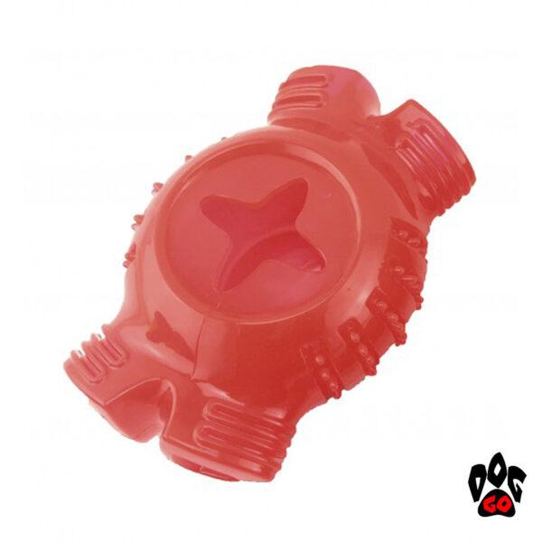 Игрушка для собак Регби CROCI TPR, высокопрочная резина, 12.4х8.3х6.4см-1