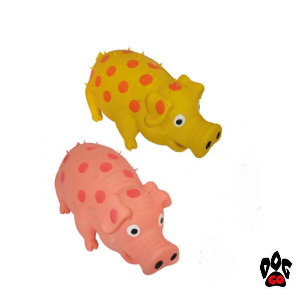 Игрушка для собак Свинка хрюкающая CROCI, винил, 20см-1