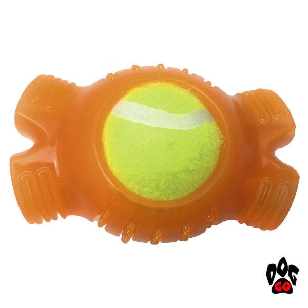 Игрушка для собак Теннисный мяч CROCI, резина+силикон, 12.4х8.3х6.4см-1