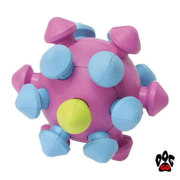 Игрушка для собак для зубов CROCI Мяч-мина литой, резина 11см-1