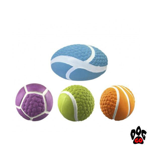 Игрушка-пищалка для собак CROCI Спорт. мячи, латекс, 7.5-10см-1