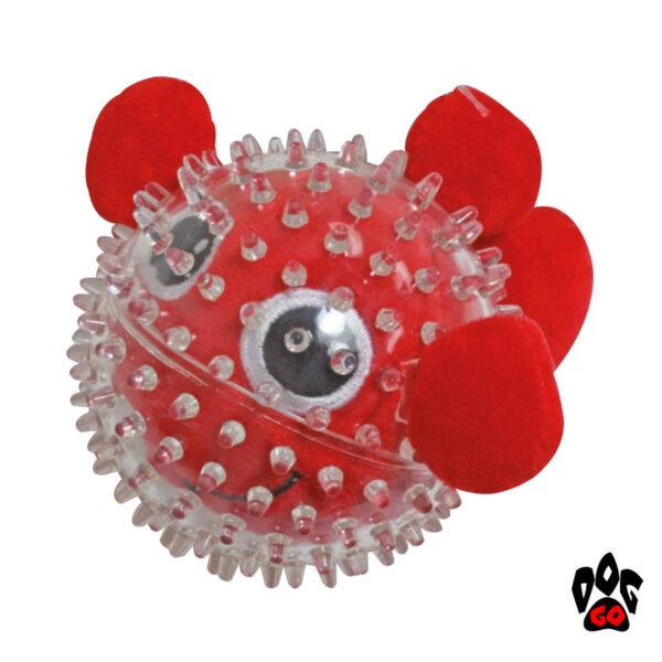 Игрушки для щенков и маленьких собак CROCI Море, шипованная, резина, 9см-2