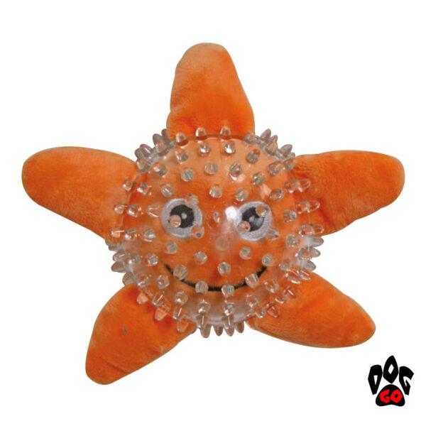 Игрушки для щенков и маленьких собак CROCI Море, шипованная, резина, 9см-4