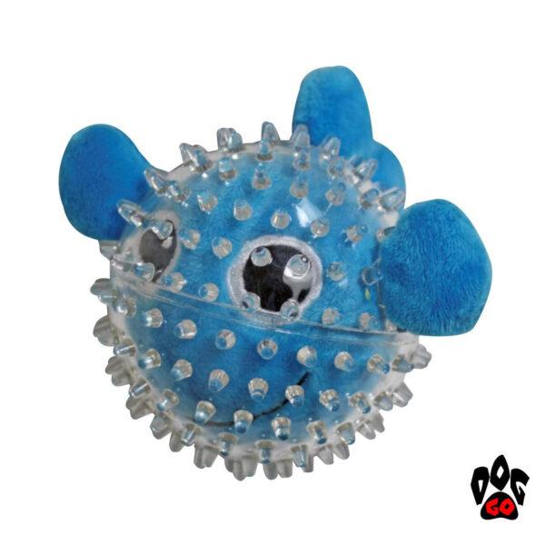 Игрушки для щенков и маленьких собак CROCI Море, шипованная, резина, 9см-5