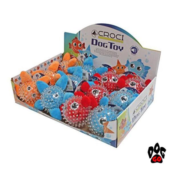 Игрушки для щенков и маленьких собак CROCI Море, шипованная, резина, 9см-6
